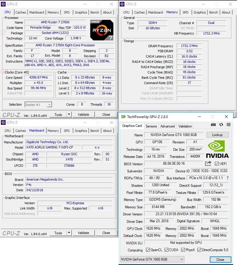 cpuid oc AMD RYZEN 7 2700X PROCESSOR REVIEW