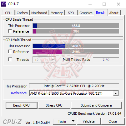 cpu benchmark MSI GE73 Raider RGB 8RF with 8th Generation of Intel CPU Review