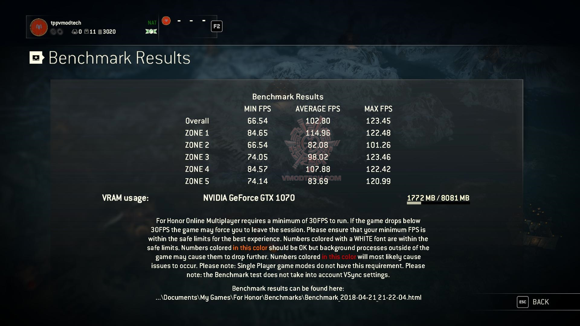 forhonor 2018 04 21 21 22 08 39 MSI GE73 Raider RGB 8RF with 8th Generation of Intel CPU Review