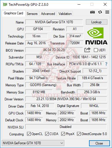gpuz MSI GE73 Raider RGB 8RF with 8th Generation of Intel CPU Review