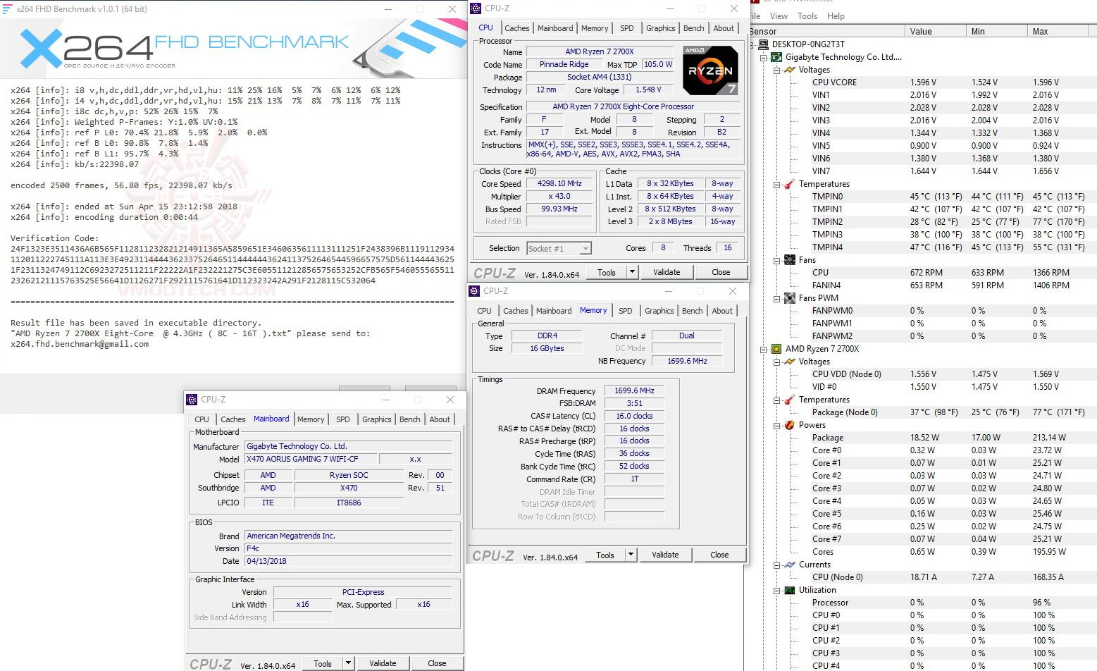 x264 1 G.SKILL SNIPER X DDR4 3400Mhz 16GB F4 3400C16D 16GSXW REVIEW