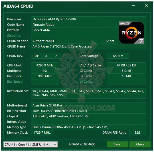 aida64 ASUS PRIME X470 PRO REVIEW
