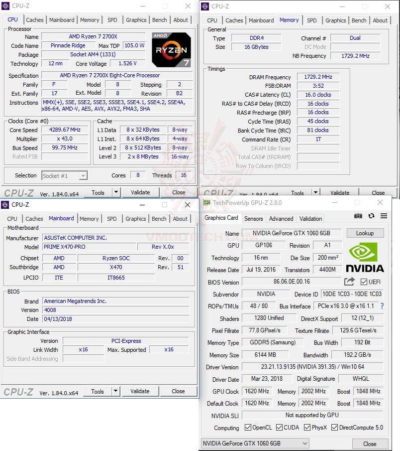 cpuid ASUS PRIME X470 PRO REVIEW