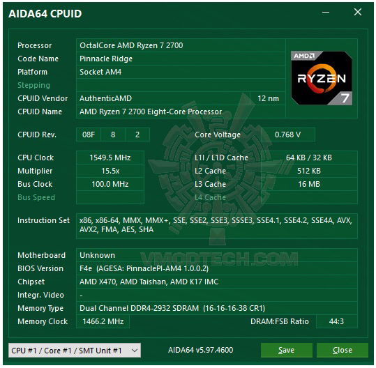 aida64 AMD RYZEN 7 2700 and StoreMI Technology Review