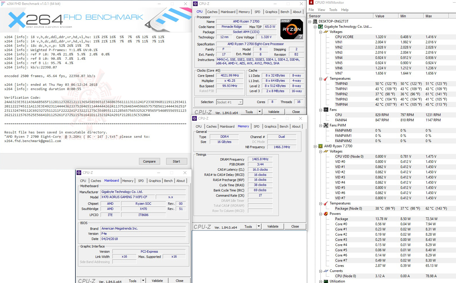 x264 1 AMD RYZEN 7 2700 and StoreMI Technology Review