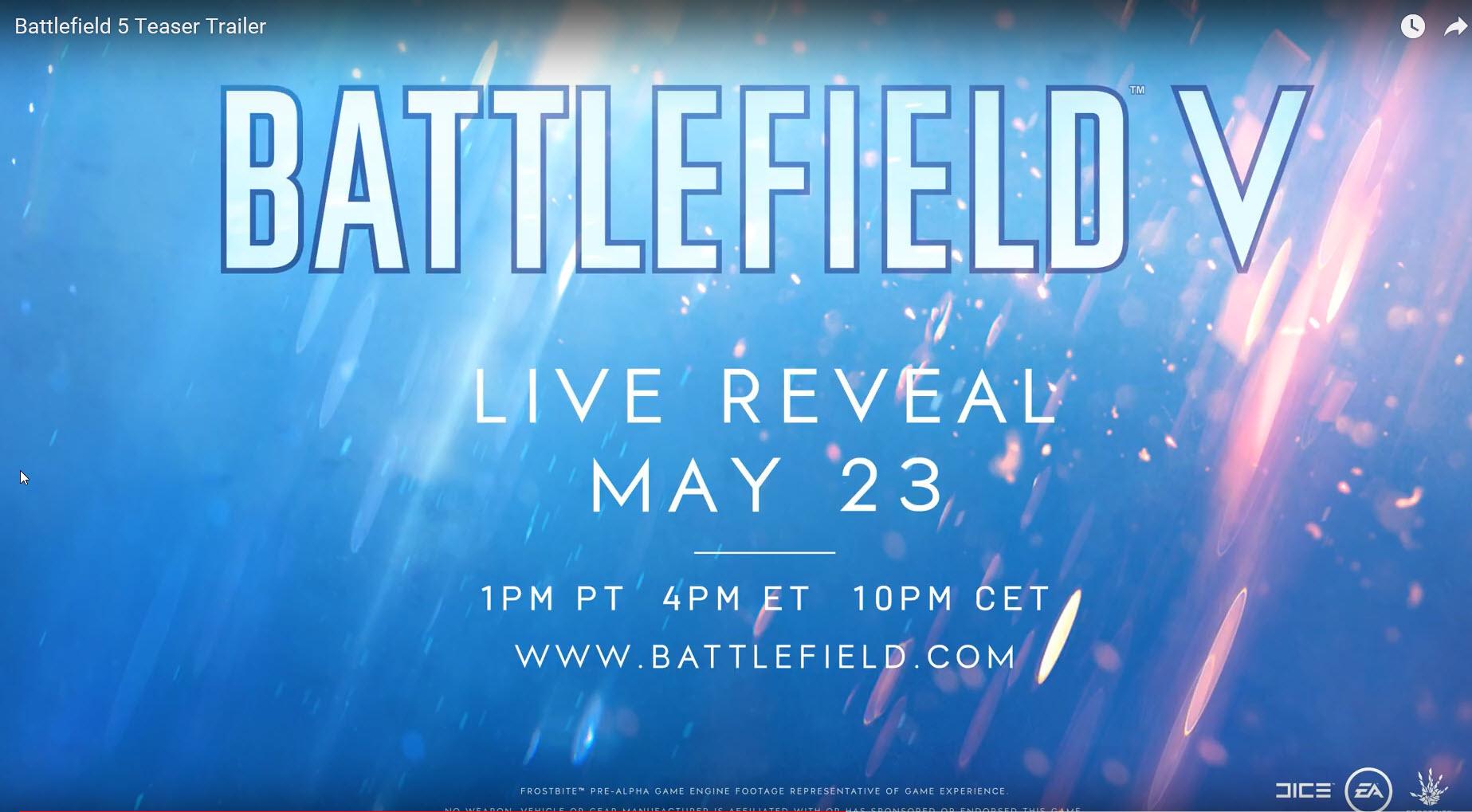 2018 05 22 14 01 22 สาวก Battlefield V อาจมีเงิบ!! เนื้อเรื่องอาจจะเป็นสงครามโลกครั้งที่ 2 Worldwar2