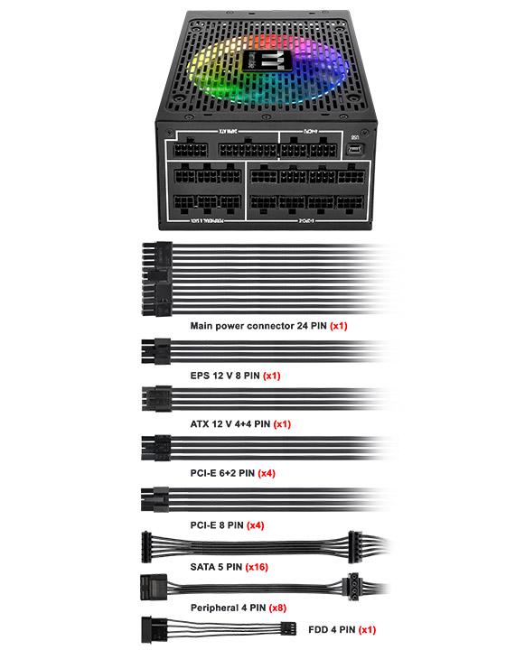 pic3 1250 Thermaltake Toughpower iRGB PLUS 1250W Titanium   TT Premium Edition Review