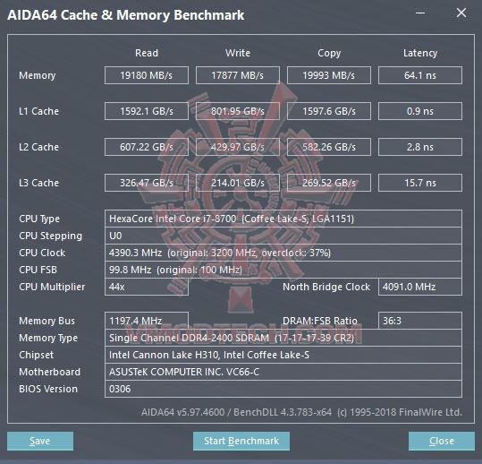 aida mem benchmark ASUS VivoMini VC66 C MiniPC Review