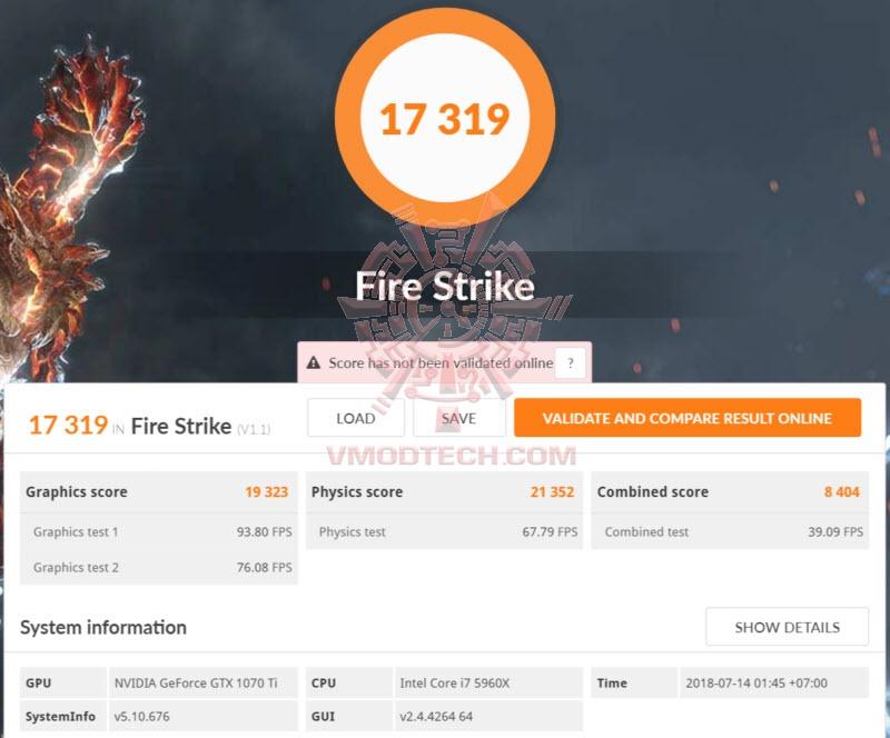 ASUS GeForce GTX 1070 Ti CERBERUS Review , : : 3DMark