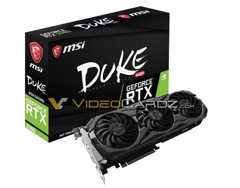 msi geforce rtx 2080 duke 1000x785 MSI ก็หลุดให้ชมกันเต็มๆ MSI GeForce RTX 2080 Ti และ RTX 2080 DUKE จัดเต็มให้คอเกมส์มิ่ง!!