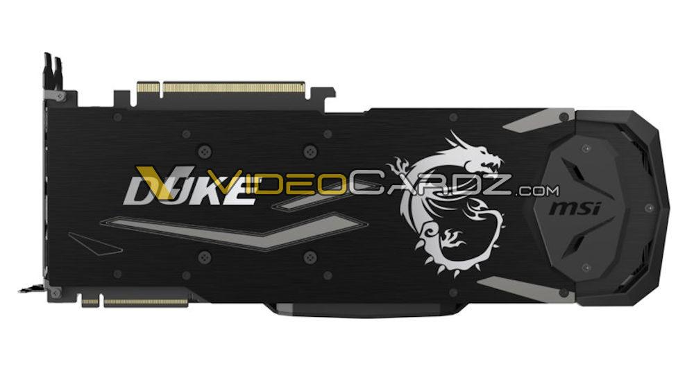 msi geforce rtx 2080 duke back 1000x535 MSI ก็หลุดให้ชมกันเต็มๆ MSI GeForce RTX 2080 Ti และ RTX 2080 DUKE จัดเต็มให้คอเกมส์มิ่ง!!