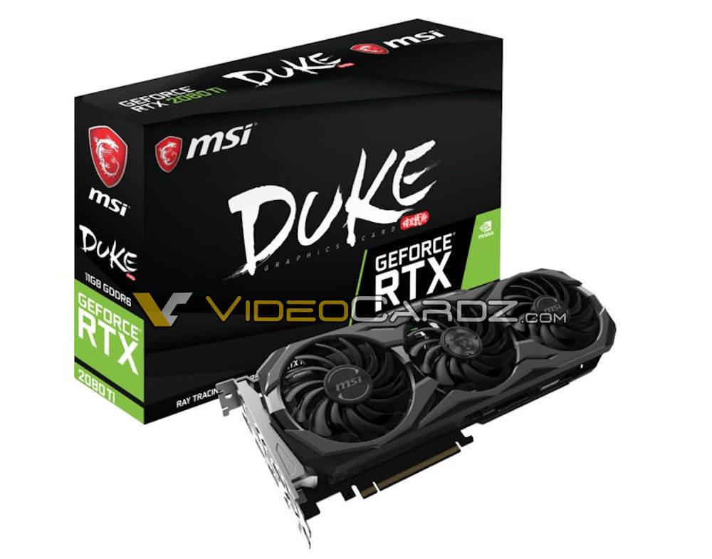 msi geforce rtx 2080 ti duke 1000x785 MSI ก็หลุดให้ชมกันเต็มๆ MSI GeForce RTX 2080 Ti และ RTX 2080 DUKE จัดเต็มให้คอเกมส์มิ่ง!!