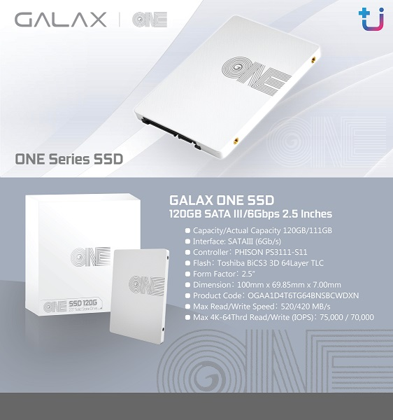 "ssd 1 Ascenti Resources เพิ่มความขาว และประสิทธิภาพความเร็วให้กับ Computer ด้วย ""GALAX ONE Series SSD"""