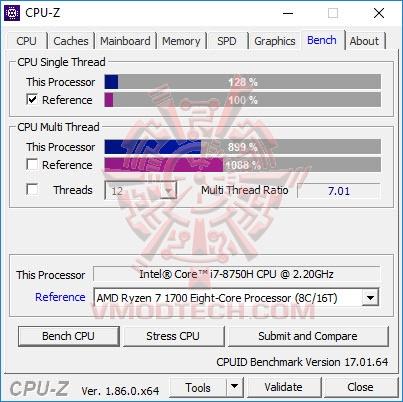 cpu bench MSI WE63 WORKSTATION WE63 8SJ Review
