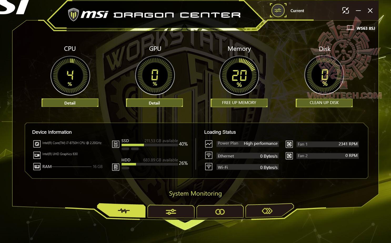 dragon1 MSI WE63 WORKSTATION WE63 8SJ Review