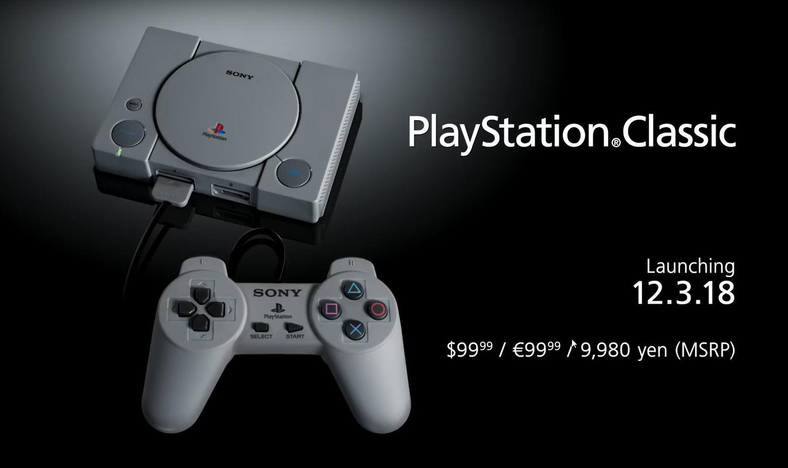 2018 09 19 14 11 14 เอาใจวัยเก๋า!!โซนี่เตรียมเปิดขาย PlayStation Classic แถมเกมส์ดัง 20เกมส์มีพอต HDMI ให้ใช้งานอีกด้วย