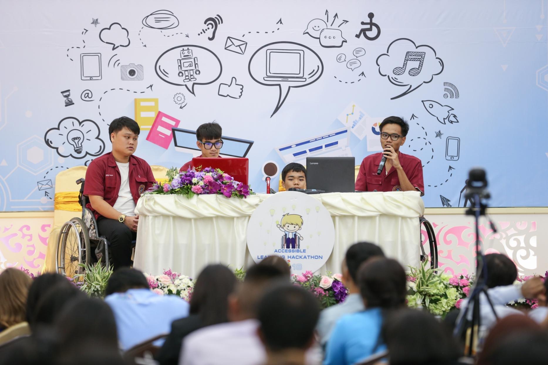 """microsoft accessible learning hackathon 2 ไมโครซอฟท์ ส่งเสริมการพัฒนานวัตกรรมสนับสนุนการเรียนรู้สำหรับนักเรียนพิการ ผ่านการแข่งขัน """"Accessible Learning Hackathon"""""""