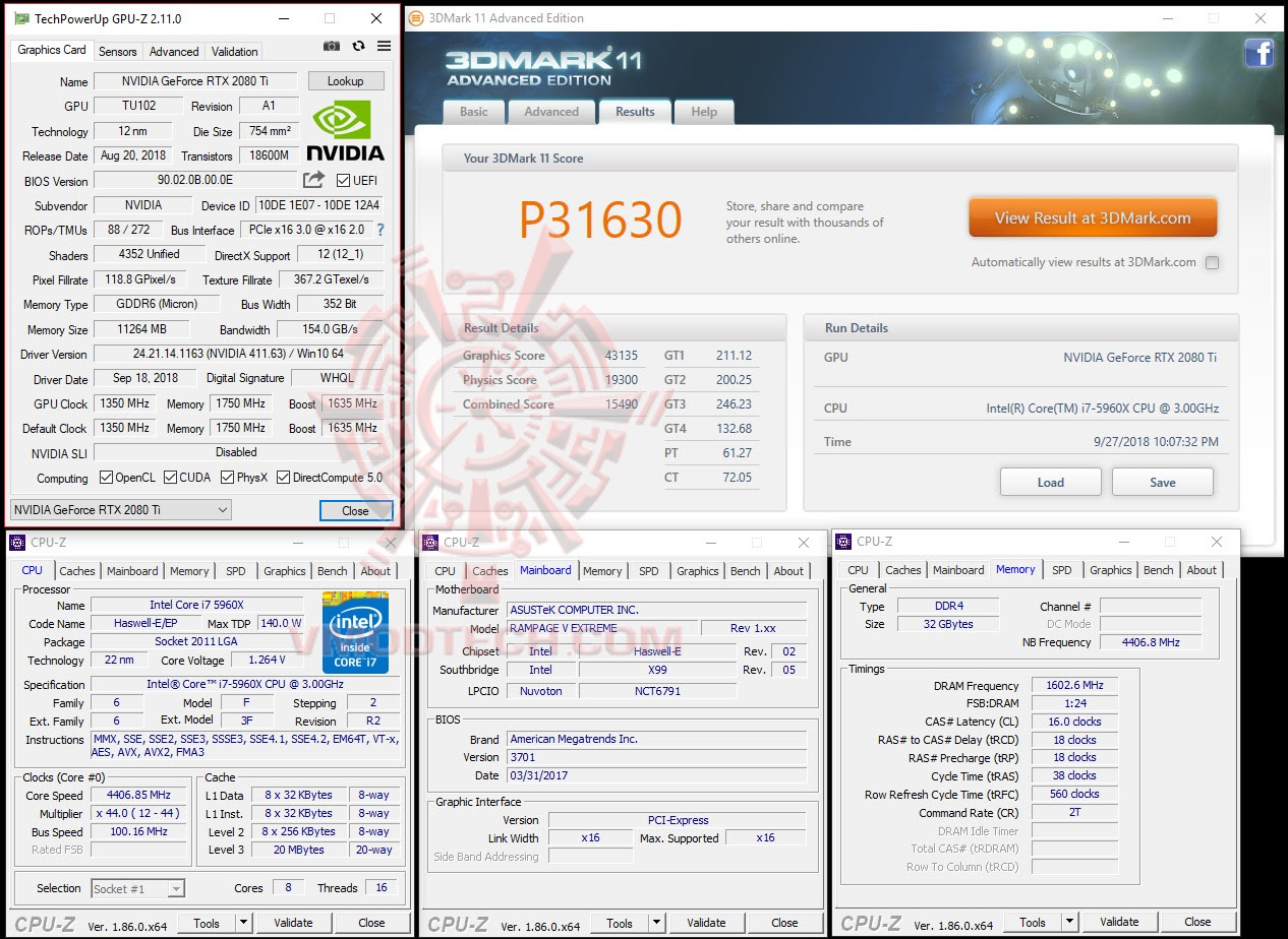 NVIDIA GeForce RTX 2080 Ti Founders Edition review , : : 3DMark 11