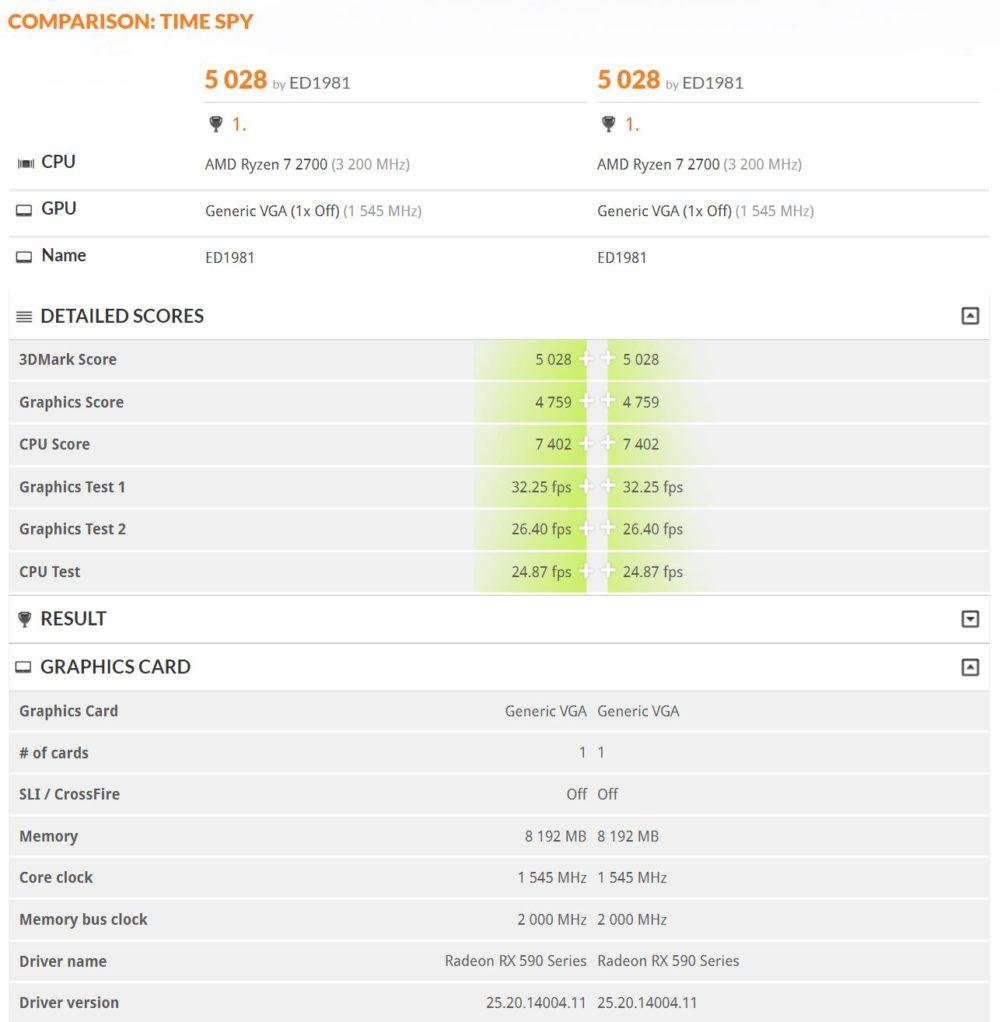 amd radeon rx 590 1000x1022 หลุดข้อมูลและผลทดสอบ AMD Radeon RX 590 ในโปรแกรม 3DMark database อย่างไม่เป็นทางการ