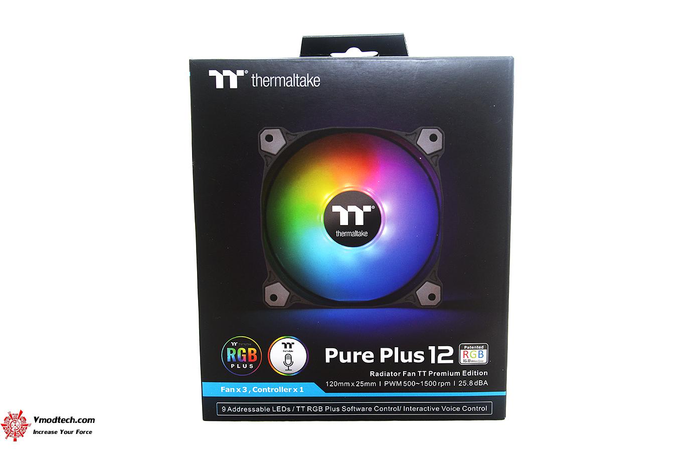 dsc 8796 Thermaltake Pure Plus 12 LED RGB Radiator Fan TT Premium Edition (3 Fan Pack) Review