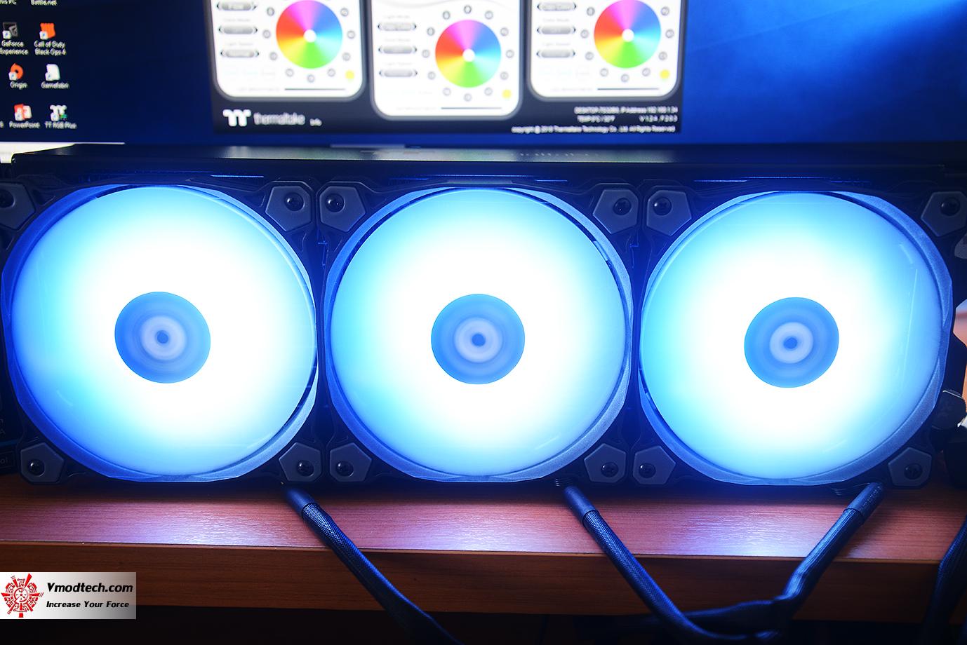 dsc 8920 Thermaltake Pure Plus 12 LED RGB Radiator Fan TT Premium Edition (3 Fan Pack) Review