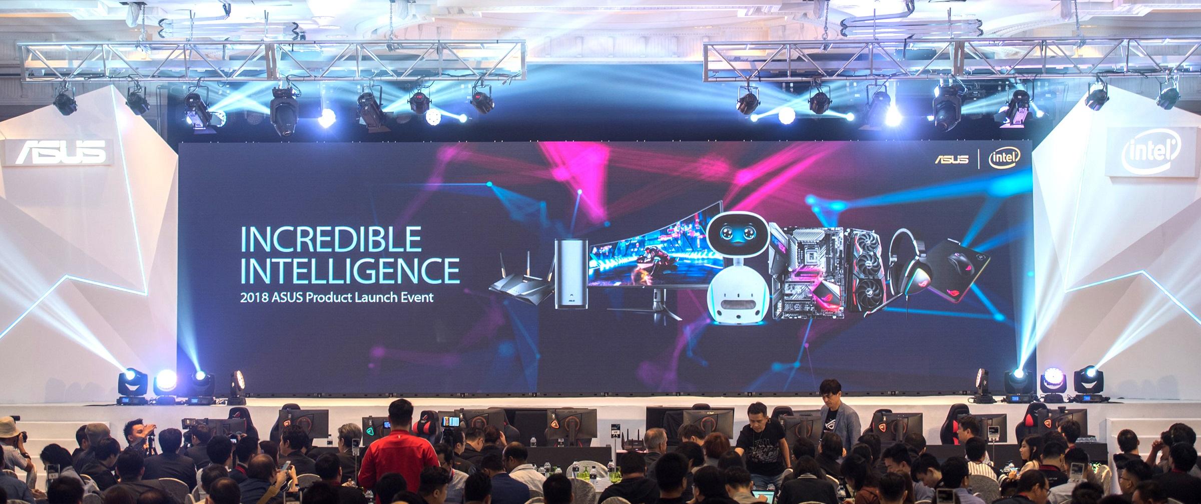 asus hosts incredible intelligence 2018 press event in malaysia ASUS โชว์นวัตกรรมสินค้าสำหรับการใช้งานในองค์กรธุรกิจ บ้านและการเล่นเกม ที่งาน Incredible Intelligence 2018 ประเทศมาเลเซีย
