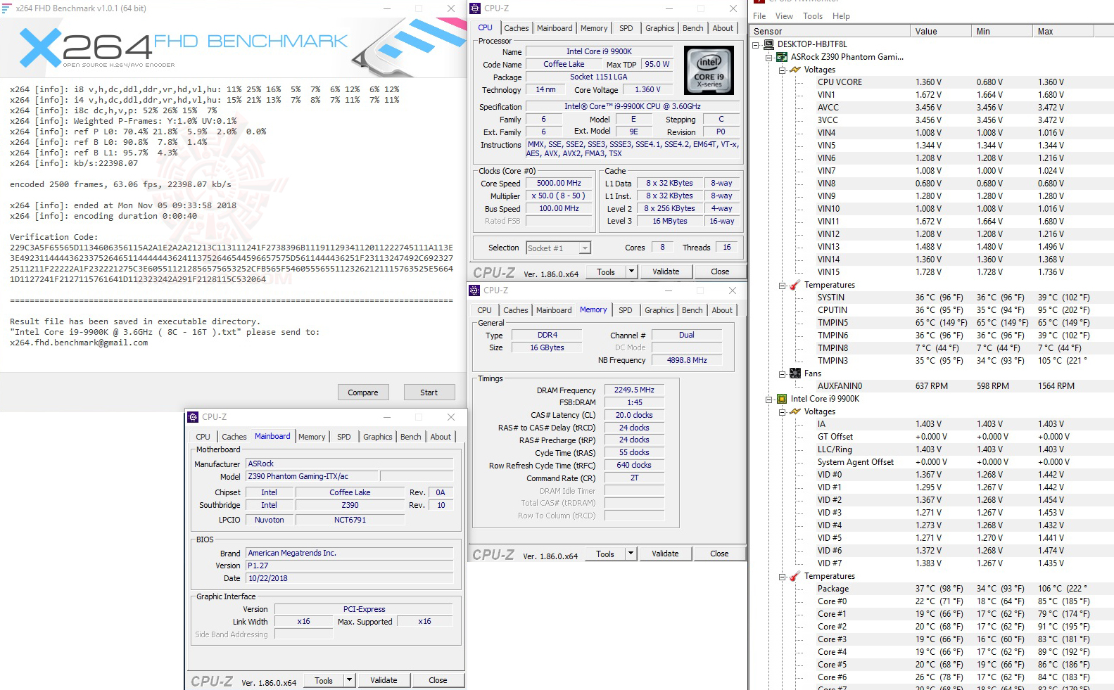 x264 1 ASRock Z390 Phantom Gaming ITX/ac Review