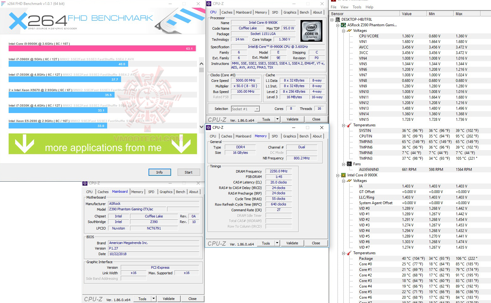 x264 ASRock Z390 Phantom Gaming ITX/ac Review