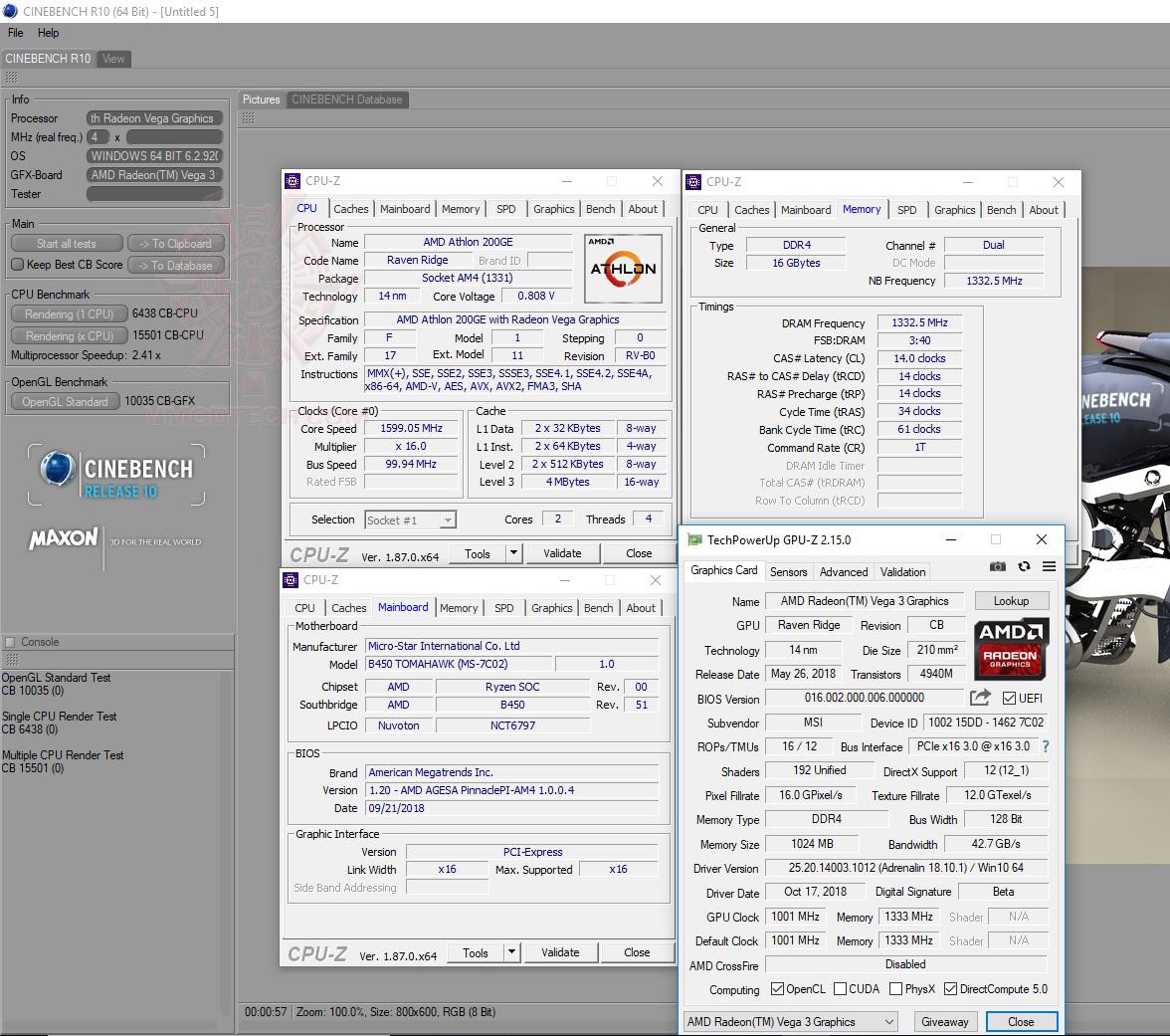 c10 AMD Athlon 200GE Processor with Radeon Vega 3 Graphics Review