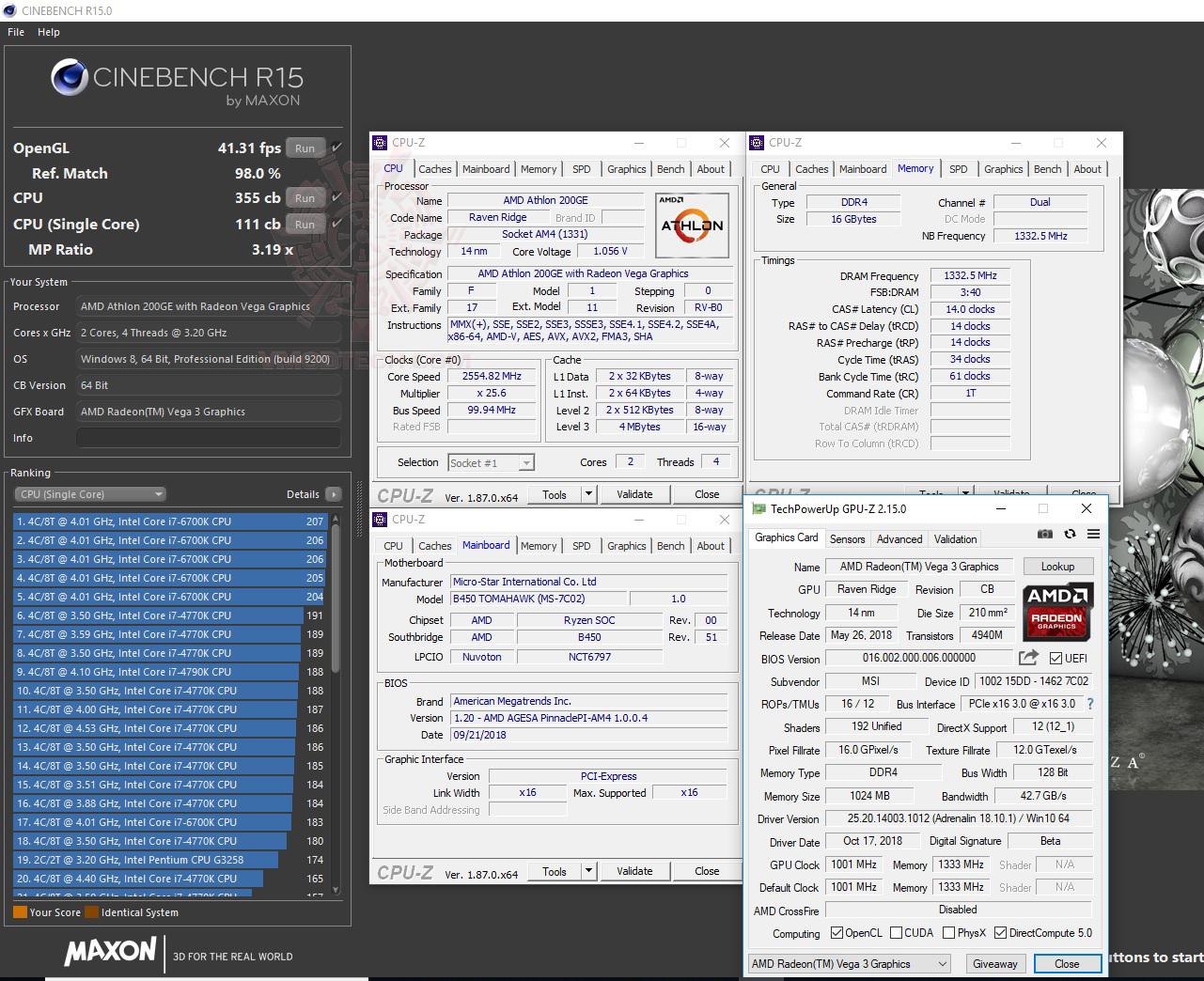 c15 AMD Athlon 200GE Processor with Radeon Vega 3 Graphics Review