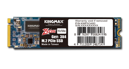 KINGMAX เปิดตัว KINGMAX Zeus M.2 2280 PCIe NVMe Gen3x4 SSD กับประสิทธิภาพความแรงเหนือระดับ