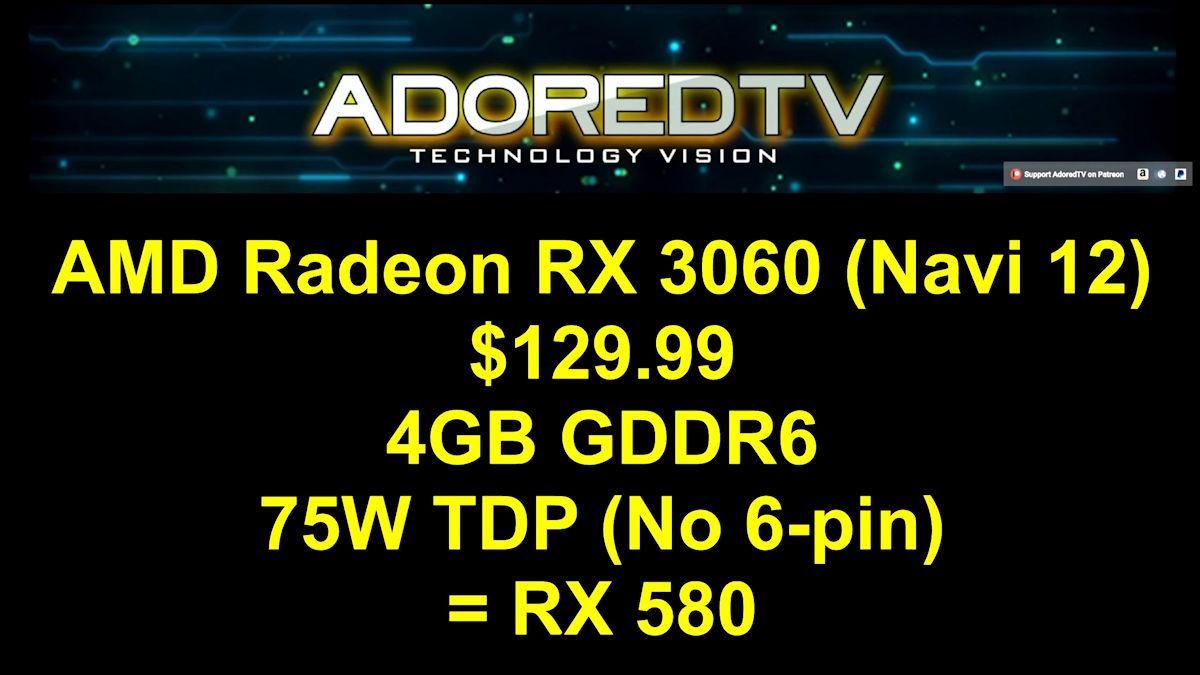 amd radeon rx 3060 specs มาไงเนี่ย!! เผยข้อมูลการ์ดจอ AMD Radeon RX 3000 รุ่นใหม่ล่าสุด 3รุ่น Radeon RX 3080 , RX 3070 , RX 3060 ในรหัส NAVI (10/12)