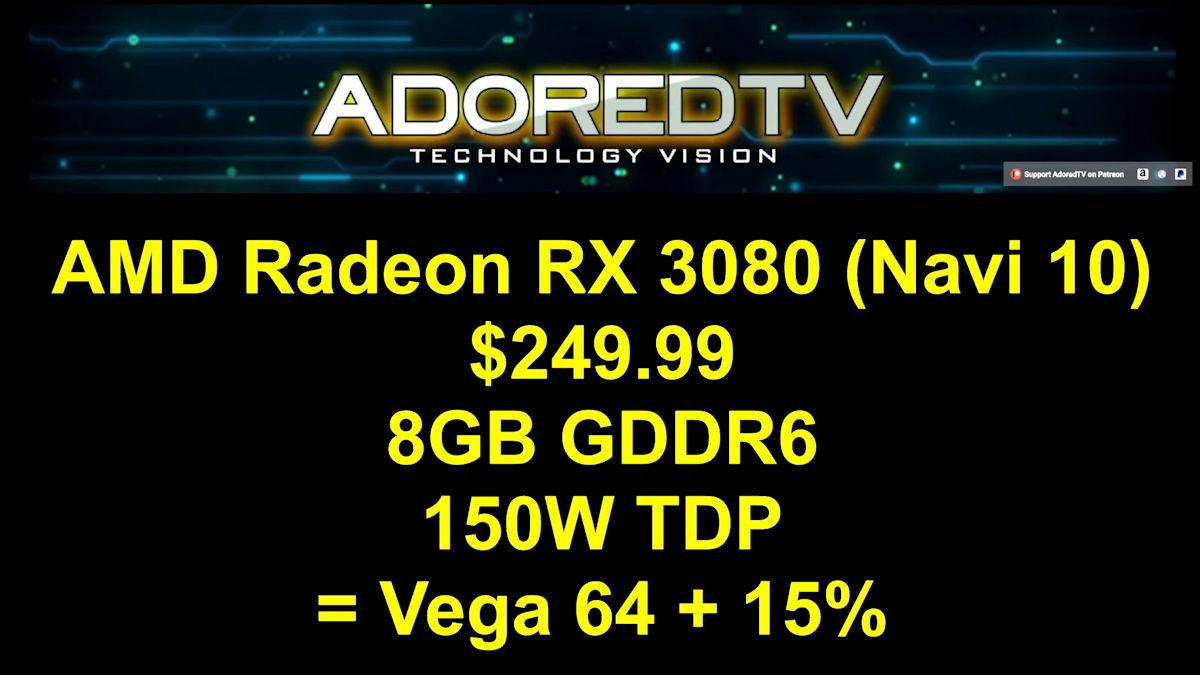 มาไงเนี่ย!! เผยข้อมูลการ์ดจอ AMD Radeon RX 3000 รุ่นใหม่ล่าสุด 3รุ่น Radeon RX 3080 , RX 3070 , RX 3060 ในรหัส NAVI (10/12)