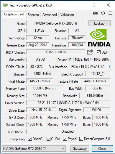 gpuz AMD RYZEN THREADRIPPER 2920X PROCESSOR REVIEW