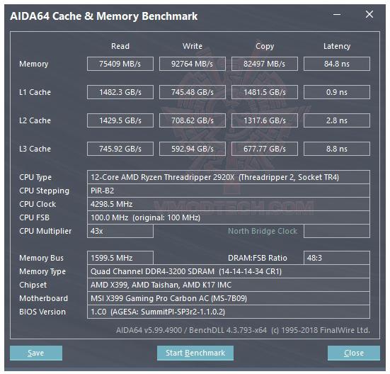 mem AMD RYZEN THREADRIPPER 2920X PROCESSOR REVIEW