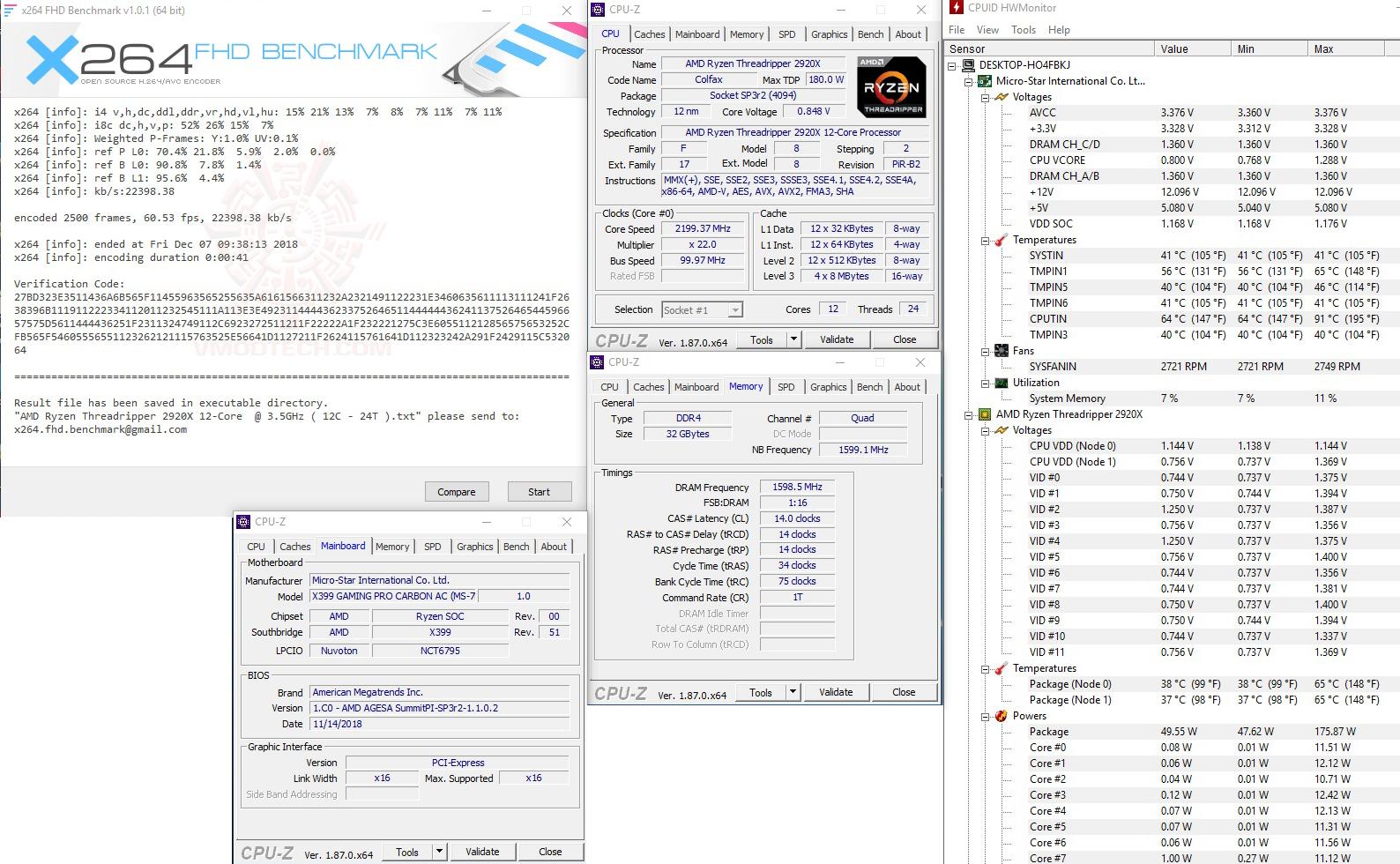 x264 1 AMD RYZEN THREADRIPPER 2920X PROCESSOR REVIEW