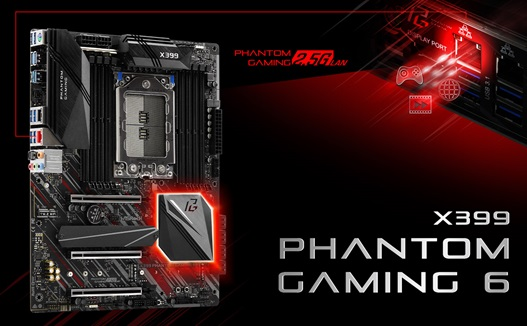asrock x399 phantom gaming 6 1 ASRock X399 Phantom Gaming 6 เมนบอร์ดตัวแกร่งสำหรับ AMD Ryzen™ Threadripper™ X series