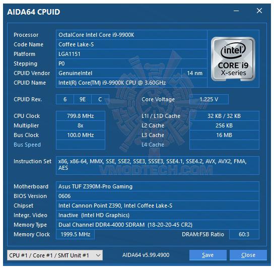 aida64 ASUS TUF Z390M PRO GAMING REVIEW