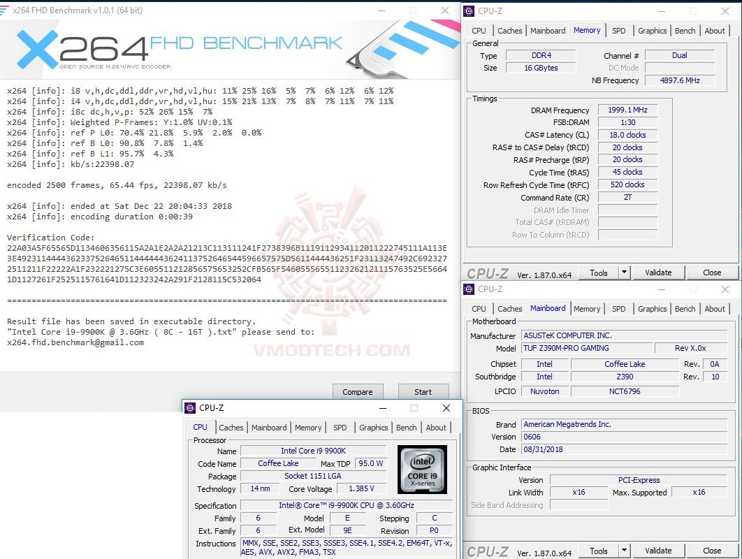 x264 1 ASUS TUF Z390M PRO GAMING REVIEW