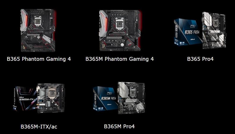 asrock b365 phantom gaming all ASRock เปิดตัวเมนบอร์ด Intel B365 series Phantom Gaming และ Pro series 5 รุ่นสุดแกร่ง