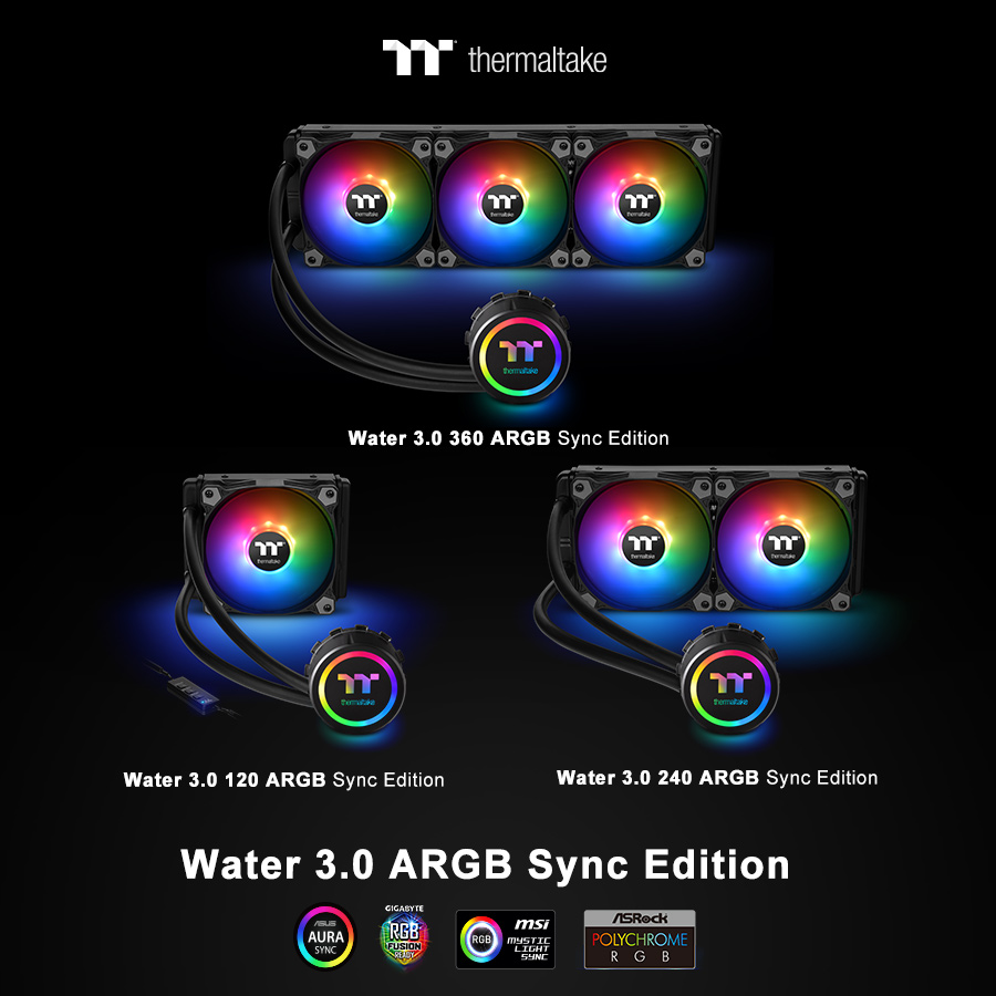 thermaltake new all in one liquid cooling solution the water 3 0 argb sync edition series at ces 2019 22 Thermaltake เปิดตัวชุดน้ำสำเร็จ All In One Liquid Cooling รุ่นใหม่ล่าสุด Thermaltake Water 3.0 ARGB Sync Edition Series ในงาน CES2019