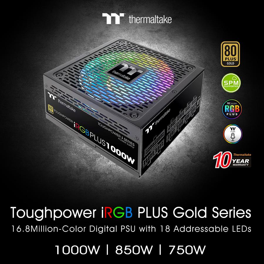 thermaltake new toughpower irgb plus gold series 2 Thermaltake เปิดตัวเพาวเวอร์ซัพพลาย Toughpower iRGB PLUS Gold Series TT Premium Edition รุ่นใหม่ล่าสุดในงาน CES2019