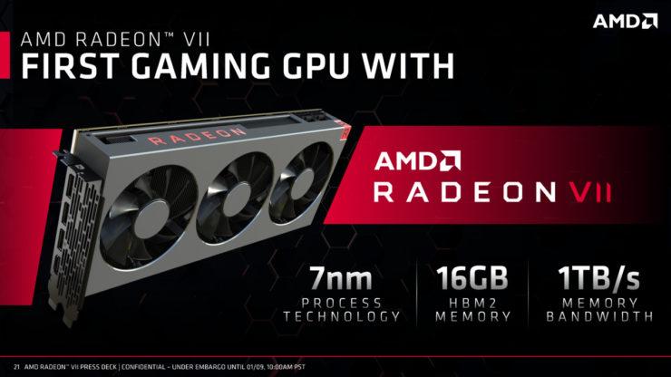 amd radeon vega vii gpu official presentation 12 740x416 เอเอ็มดีเปิดตัวการ์ดจอ Gaming GPU ตัวแรกของโลกที่ใช้เทคโนโลยีการผลิต 7nm