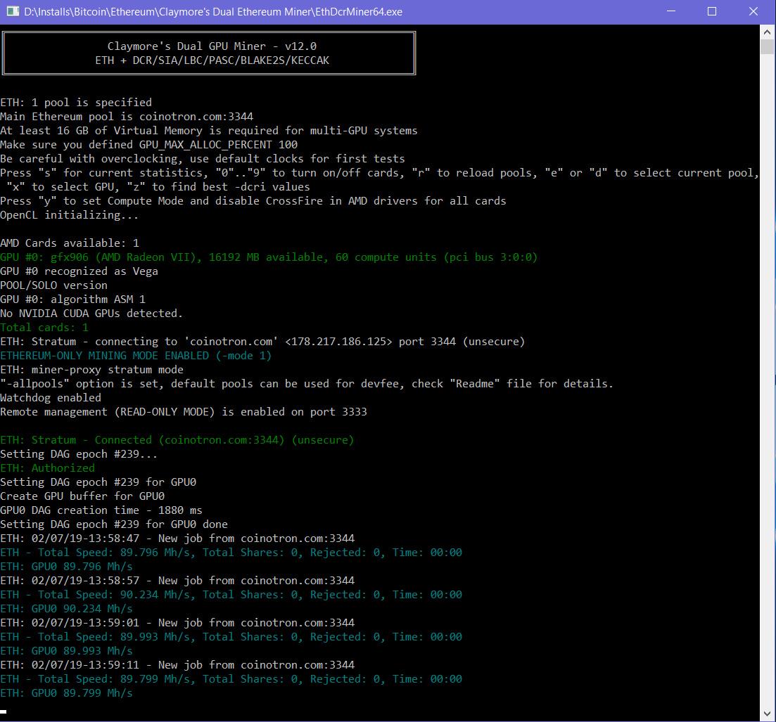 4mmo8uz ผลทดสอบ Ethash Hashrate การ์ดจอ AMD Radeon VII สูงถึง 90Mh/s กันเลยทีเดียว