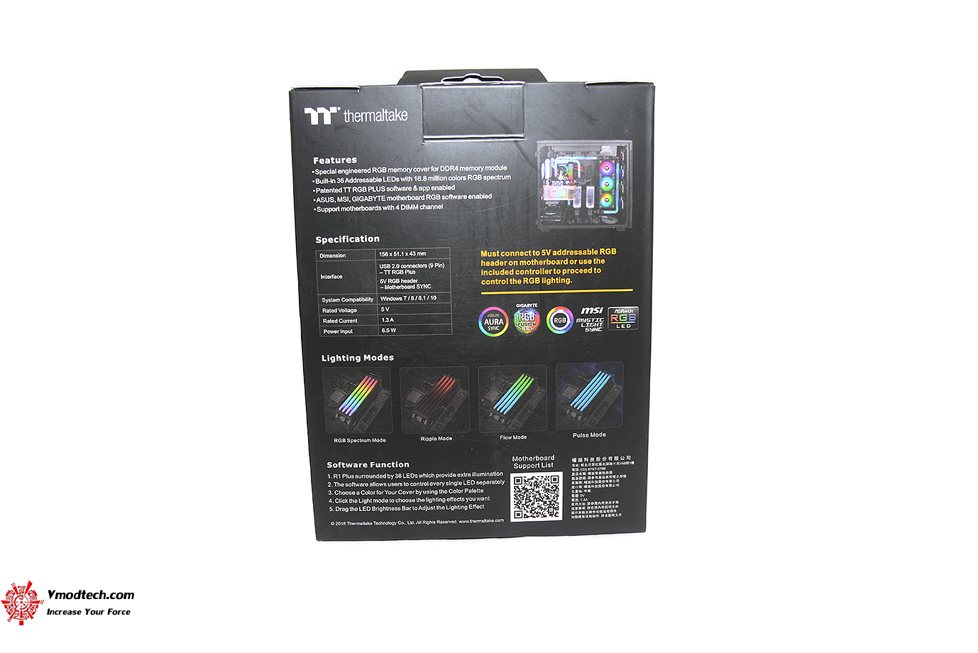 dsc 5451 Thermaltake Pacific R1 Plus DDR4 Memory Lighting Kit Review