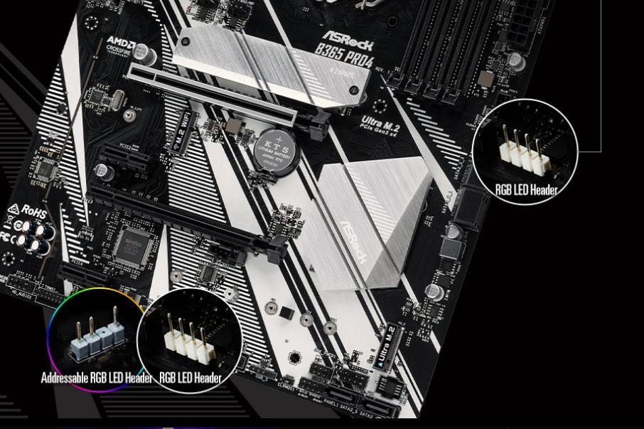 asrock b365 pro4 4 ASRock B365 Pro4 ฟังก์ชั่นสุดคุ้มเพื่อคอเกมและสตรีมเมอร์