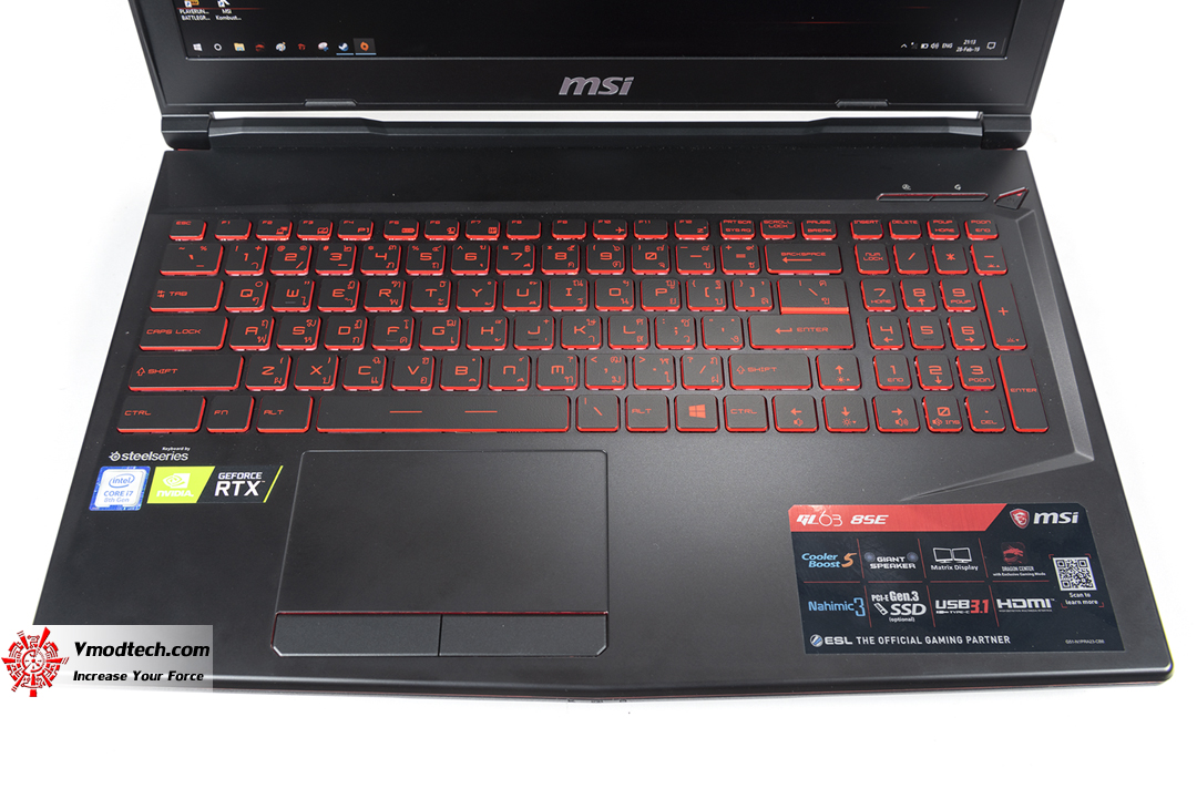 tpp 5085 MSI GL63 8SE with Nvidia RTX 2060 Review
