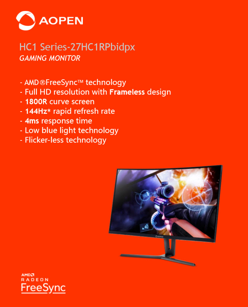"2019 03 10 21 22 51 AOPEN LED 27"" HC1 Series 27HC1RPbidpx Curve Screen GAMING MONITOR 144Hz Review"