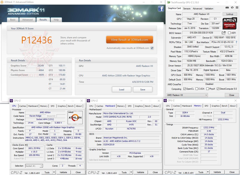 11 vega AMD Athlon 220GE Processor with Radeon Vega 3 Graphics Review
