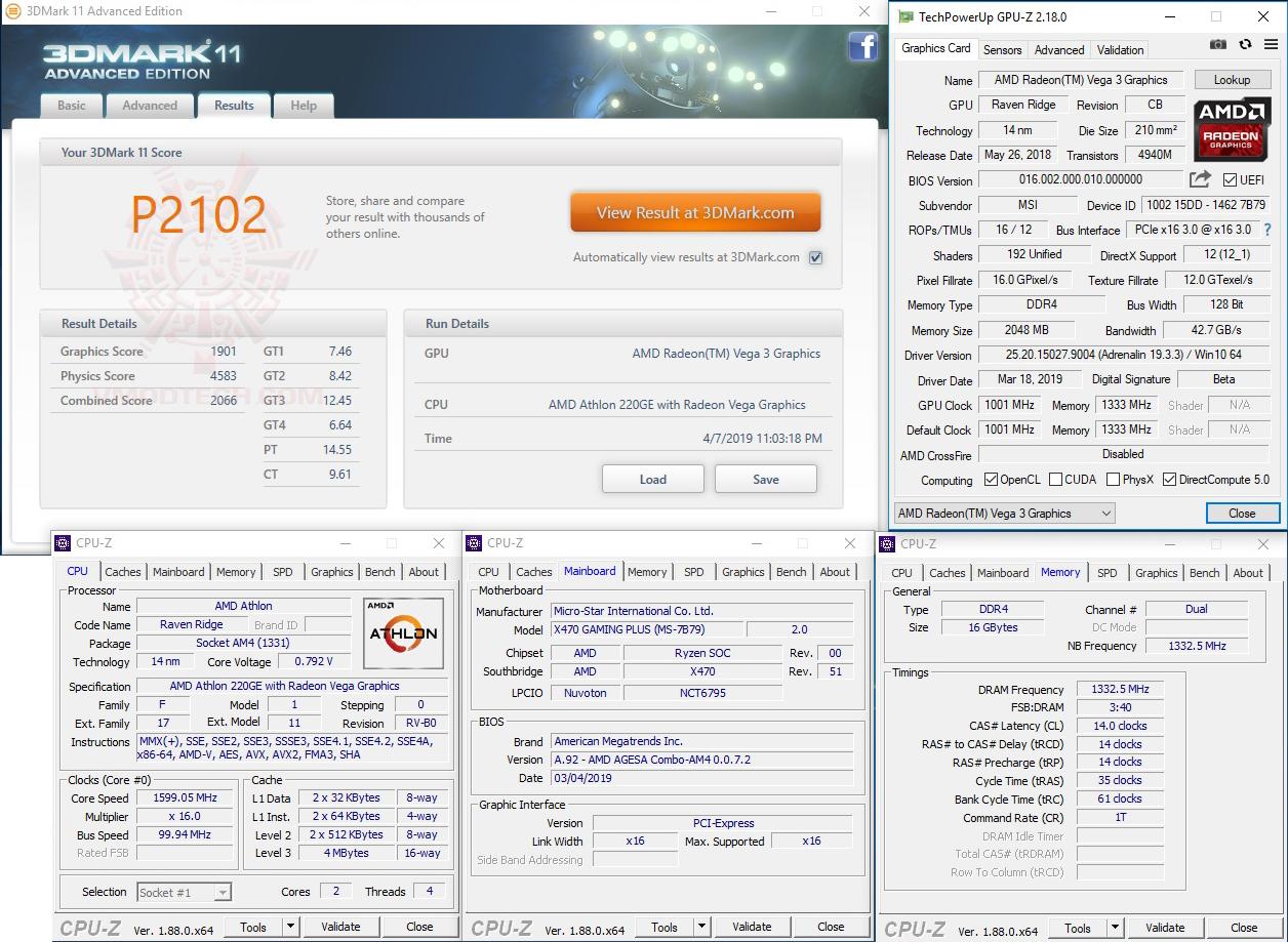 11 AMD Athlon 220GE Processor with Radeon Vega 3 Graphics Review